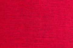 Red fabric closeup flax Stock Photography
