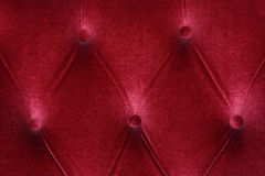 Red fabric cushion furniture sofa texture Royalty Free Stock Photo