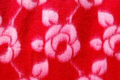 The red fabric design flower. Stock Image