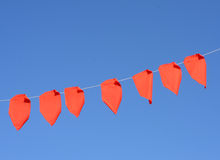 Red fabric flags Royalty Free Stock Image