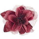 Red fabric flower Stock Photos