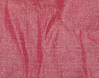 Red fabric folds Stock Photography