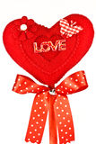 Red Fabric Heart Royalty Free Stock Images