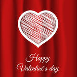 Red fabric heart Royalty Free Stock Photo