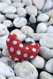 Red fabric heart Royalty Free Stock Photos