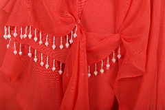 Red Fabric Jewelry Background Stock Photography