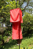 Red fabric lantern Royalty Free Stock Photography