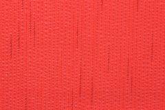 Red fabric with linen structure Stock Photo