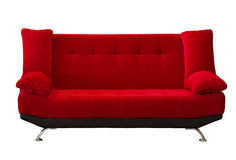 Red fabric modren sofa Royalty Free Stock Photography