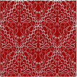 Red fabric with an old-style brocade pattern Royalty Free Stock Photo