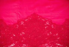 Red fabric with ornament Stock Images