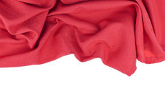 Red Fabric pattern for background and design. Stock Photography
