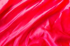 Red Fabric pattern background. Royalty Free Stock Photography