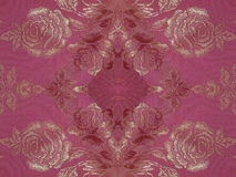 Red fabric with roses Stock Image