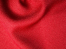 Red fabric sample. Red fabric texture sample for interior design Royalty Free Stock Images