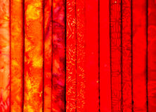 Red fabric samples Stock Images
