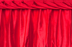 Red fabric silk texture for background Stock Photography