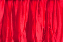 Red fabric silk texture for background Royalty Free Stock Photography