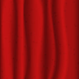 Red fabric with stars Stock Photos