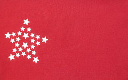 Red fabric with stars Stock Image