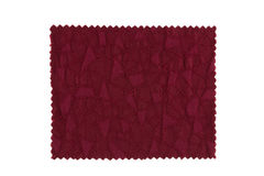 Red fabric swatch Royalty Free Stock Photos