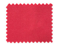 Red fabric swatch samples isolated on white Royalty Free Stock Photos