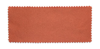 Red fabric swatch samples. Isolated on white background royalty free stock photography