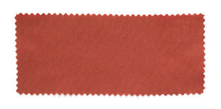 Red fabric swatch samples isolated. On white background stock photography