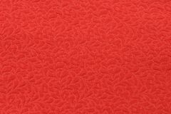 Red fabric testure Stock Image