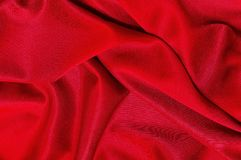 Red fabric texture for background, beautiful pattern of silk or linen.  Stock Images