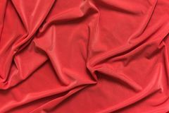 Red fabric texture background. A Red fabric texture background close up Stock Photo