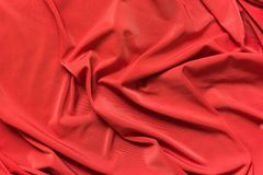 Red fabric texture background. A Red fabric texture background close up Royalty Free Stock Photo