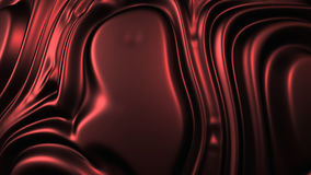 Red Fabric texture background. Rippled red fabric background in luxurious satiny material. 3D Illustration Stock Photos