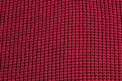 Red fabric texture. Closeup red fabric texture as background Royalty Free Stock Photos