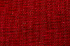 Red Fabric Texture. A macro close up of red fabric texture Royalty Free Stock Images