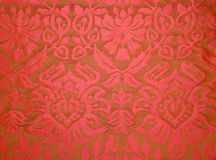 Red fabric wallpaper Stock Images