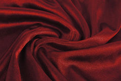Red  fabric wave texture Royalty Free Stock Photography