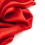 Red fabric on a white background Royalty Free Stock Images