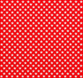 Red fabric with white stars Royalty Free Stock Images