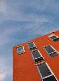 Red facade. Of a building in the Netherlands Stock Photos