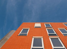 Red facade. Of a building in the Netherlands Royalty Free Stock Photo