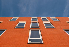 Red facade. Of a building in the Netherlands Royalty Free Stock Images