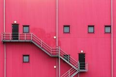 Red facade royalty free stock photos