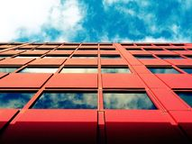 Red facade of office block  Stock Photos