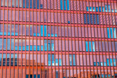 Red facade of an office building Stock Images