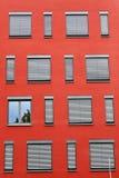 Red Facade With Windows Royalty Free Stock Photos