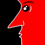 Red face. Creative design of red face Royalty Free Stock Photos