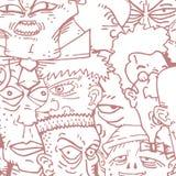 Red faces cartoon Stock Photo