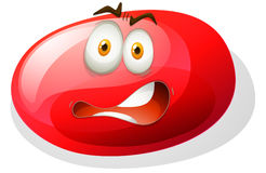 Red facial expression slime Royalty Free Stock Images
