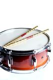 Red Fade Snare Drum isolated Stock Images